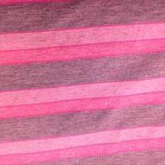 Pink Tourmaline Stripes on Cotton Jersey