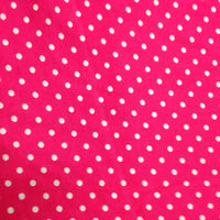 Small White Dots on Hot Pink Cotton/Poly Jersey