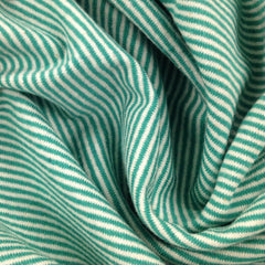 Seagreen and Natural Eco Stripe