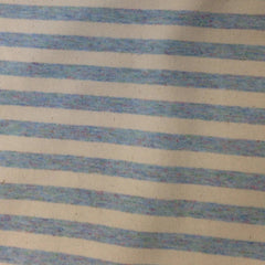Baby Blue and Natural Eco Stripe.  This fabric is 49% Recycled Cotton, 45% PET and 6% Spandex.  It is 58