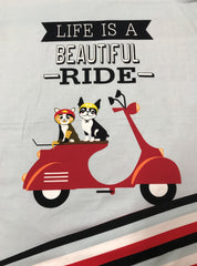 Life Is A Beautiful Ride on Blue Bamboo/Spandex Jersey