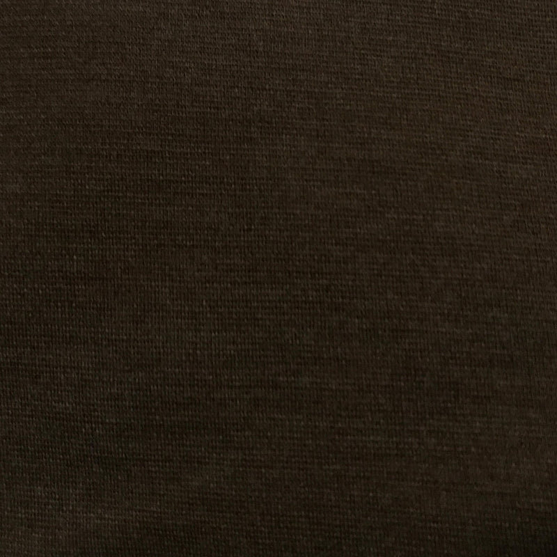 Medium Brown Merino Wool Ponte Di Roma