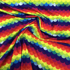 Rainbow Scales on Organic Cotton/Spandex Jersey