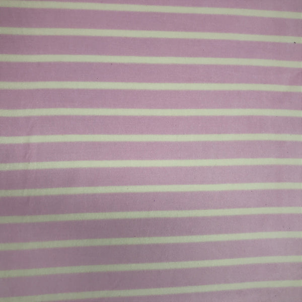 Natural and Orchid Stripe Cotton Velour