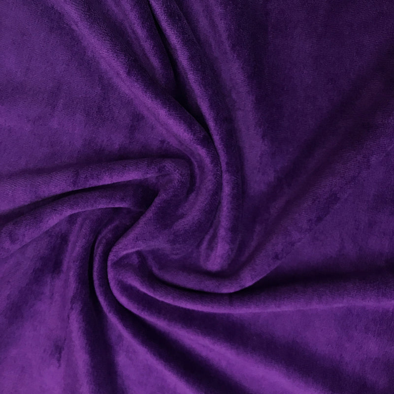 Purple Cotton Velour