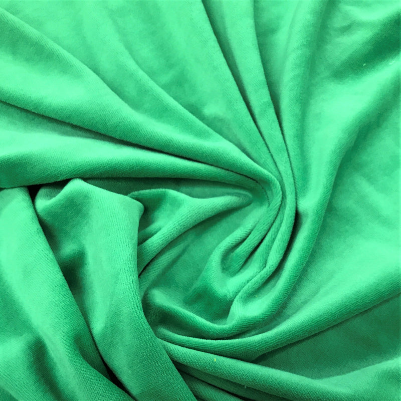 Kelly Green Cotton Velour