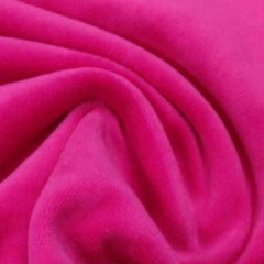 Hot Pink Cotton Velour