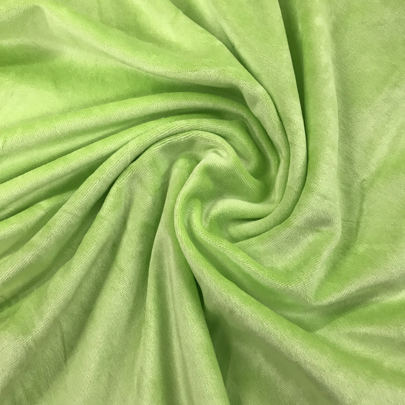 Light Green Bamboo Velour, $8.90/yd -Rolls