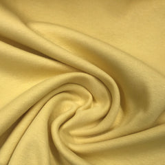 Light Yellow Heavy Organic Cotton Rib Knit
