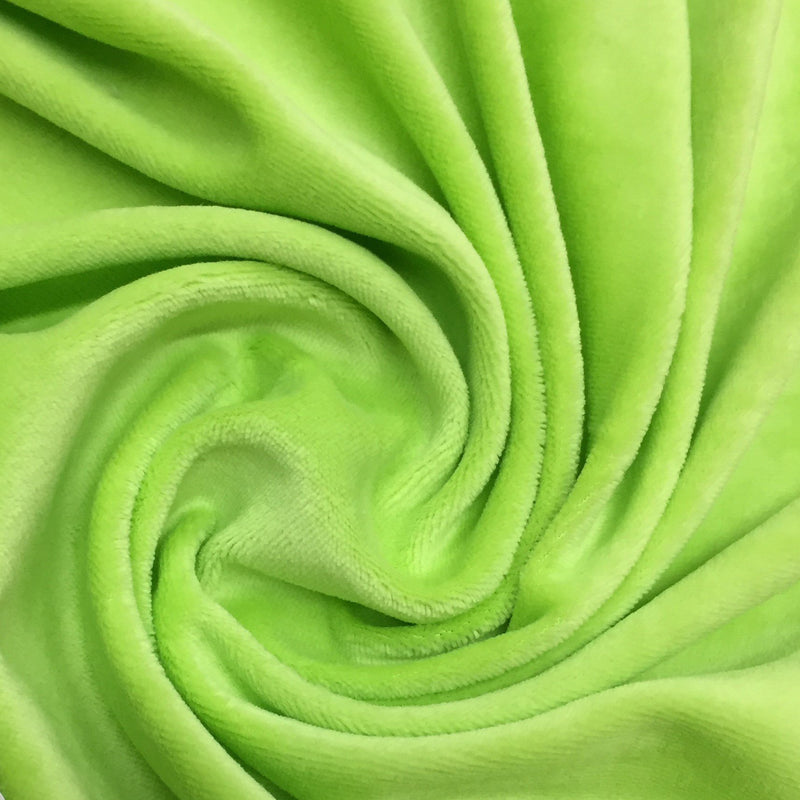 Lime Organic Cotton Velour, $7.63/yd -Rolls