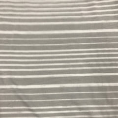 Light Gray and White Stripes on Bamboo/Spandex Jersey