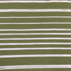 Light Olive and White Stripes on Bamboo/Spandex Jersey