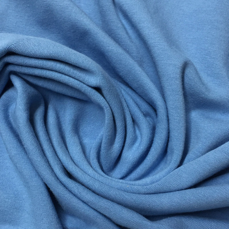 Medium Blue Cotton/Spandex Jersey