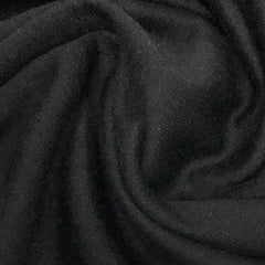 Black Merino Wool/Polyester Interlock