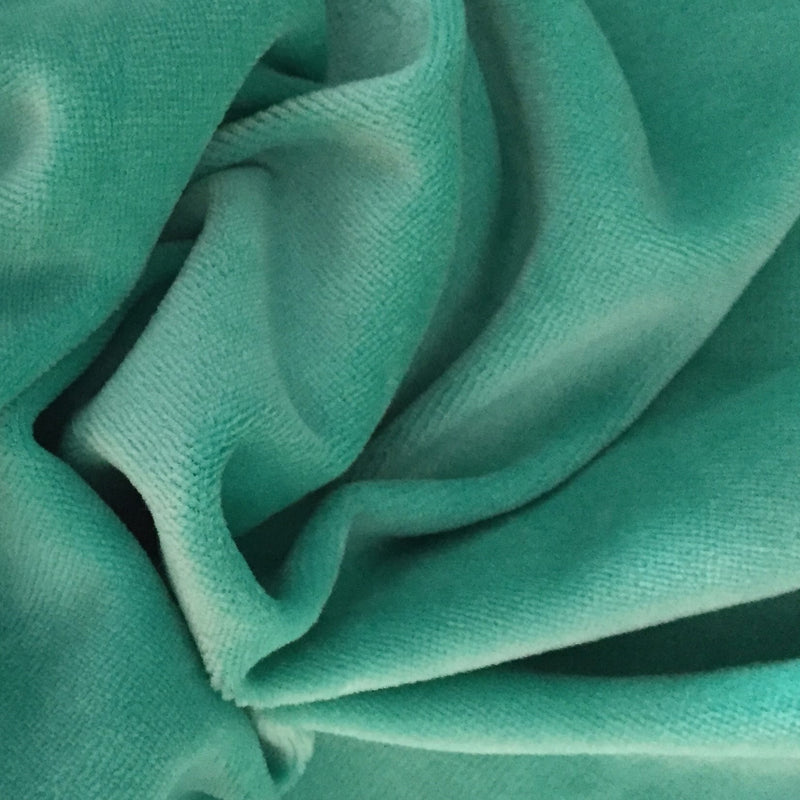 Mermaid Green Cotton Velour