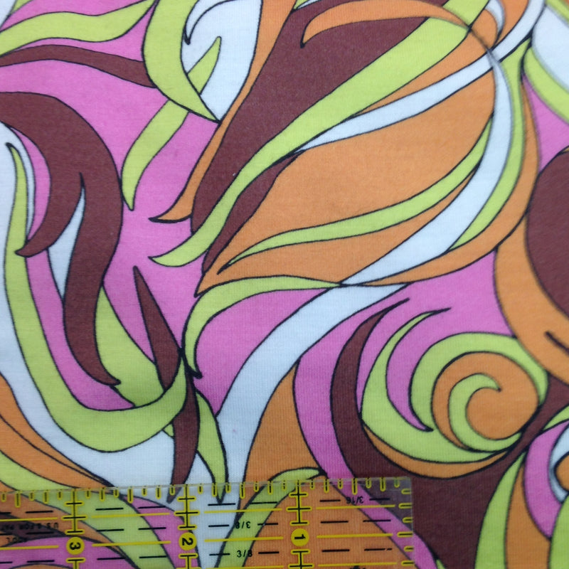 Multicolor Swirls on Cotton/Spandex Jersey