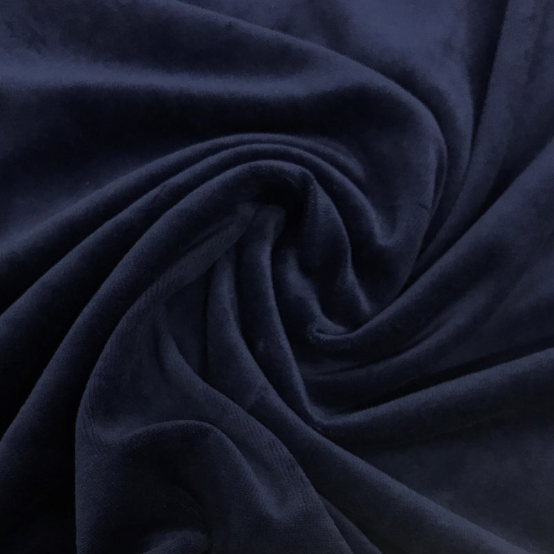 Navy Cotton Velour