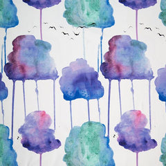 November Clouds on Organic Cotton/Spandex Jersey
