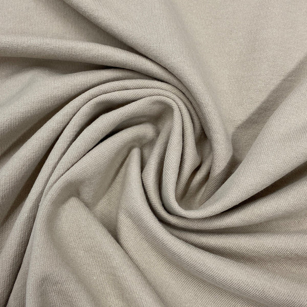 Tan Organic Cotton French Terry - Nature's Fabrics