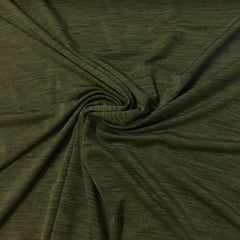 Olive Green Space Dye on Poly/Spandex Jersey