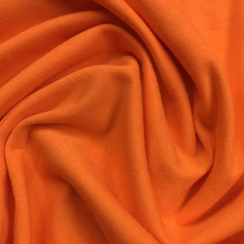 Orange Organic Cotton/Spandex Jersey - 220 GSM