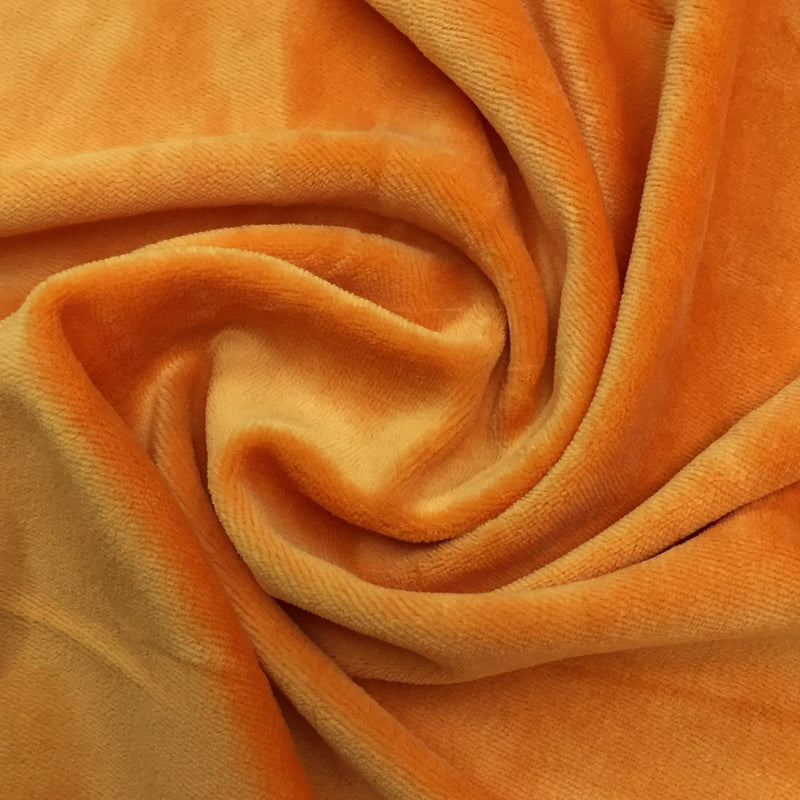 Orange Organic Cotton Velour
