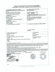 Organic Certificate for Wool Interlock