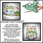 Rocket Bottoms OS Fitted Cloth Diaper