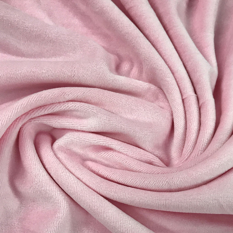 Pale Pink Cotton Velour