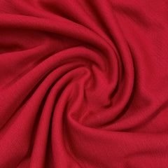 Real Red Merino Wool Ponte Di Roma