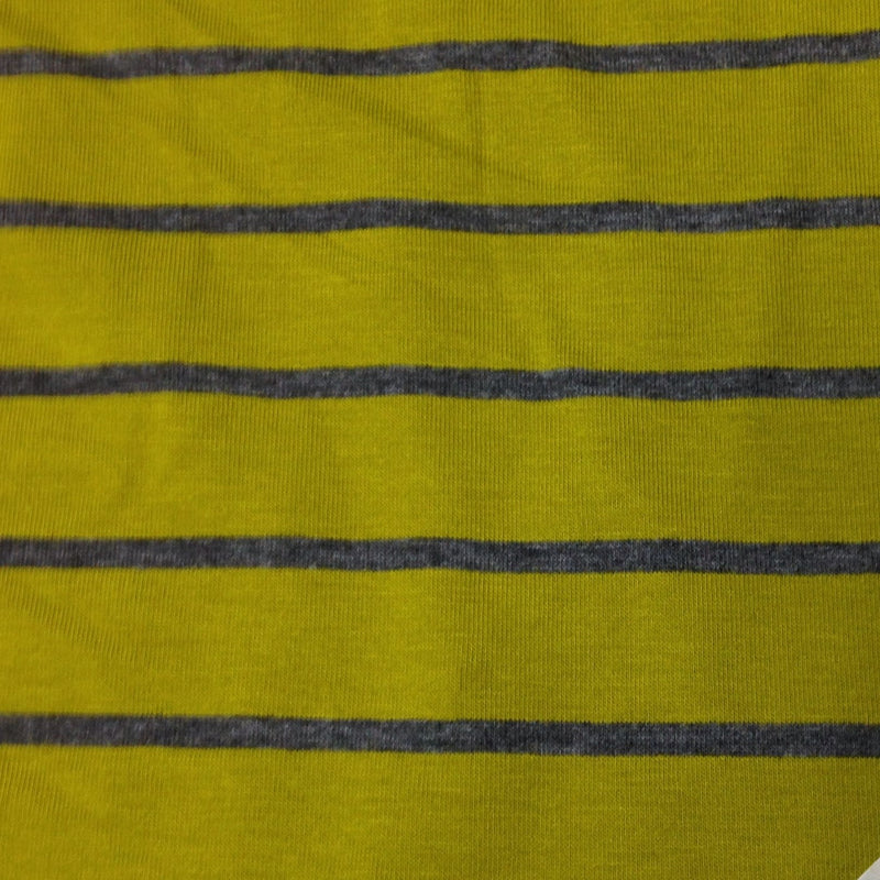 Pear and Dark Gray Stripes on Bamboo/Spandex Jersey