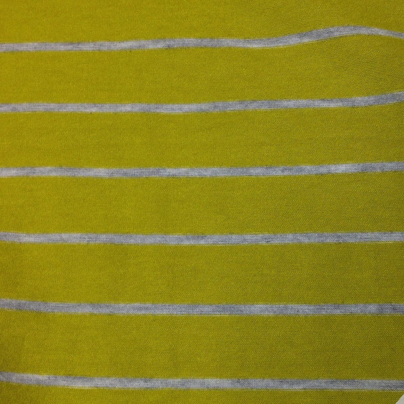 Pear and Light Gray Stripes on Bamboo/Spandex Jersey