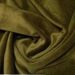 Juicy Olive Cotton Velour