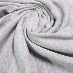 Gray Heather Cotton Interlock