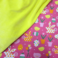 Spring Fling on Pink Cotton/Spandex Jersey