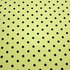 Black Dots On Yellow Cotton Jersey