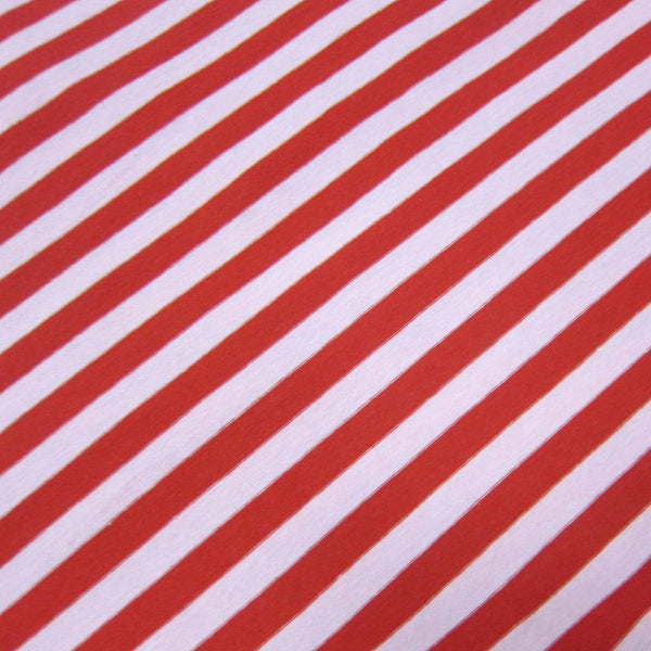 "Red and Pink 3/8"" Stripes on Cotton/Spandex Jersey"