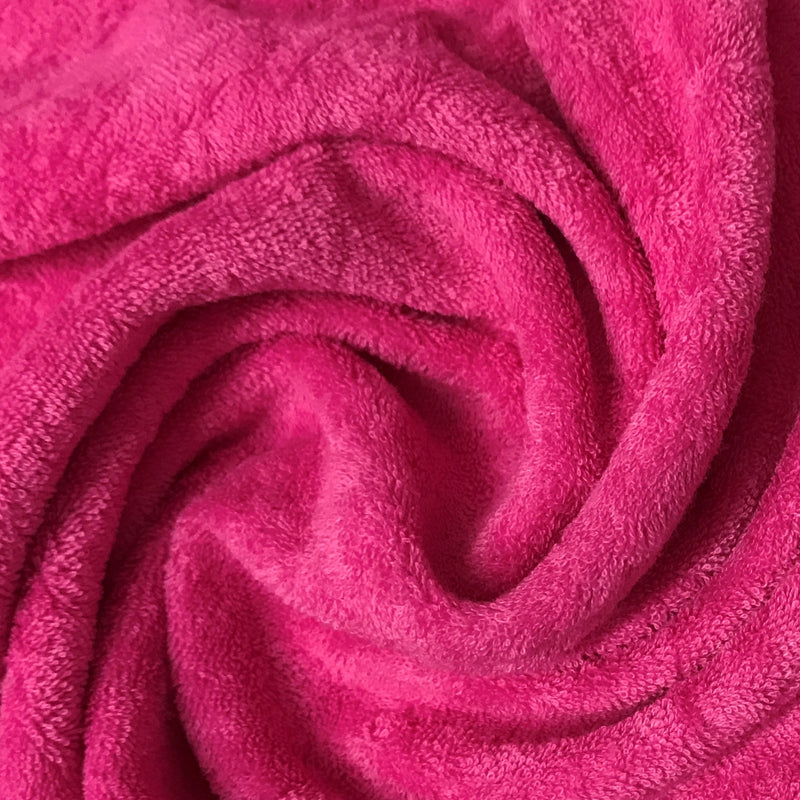 Hot Pink Cotton Baby Loop Terry