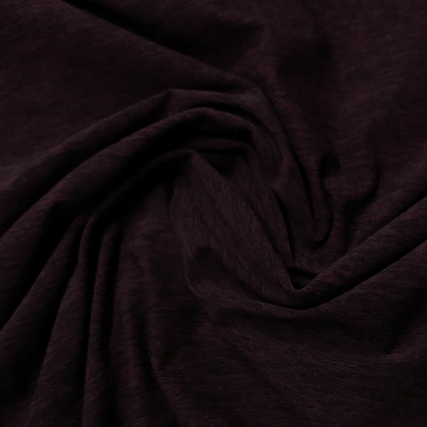 Plum Space Dye on Poly/Spandex Jersey