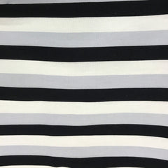Polar Fun Stripe on Bamboo/Spandex Jersey