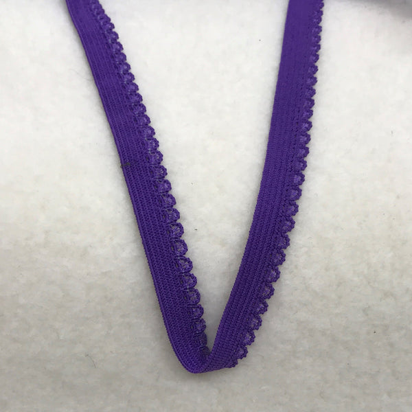 "3/8"" Picot Elastic-Purple"