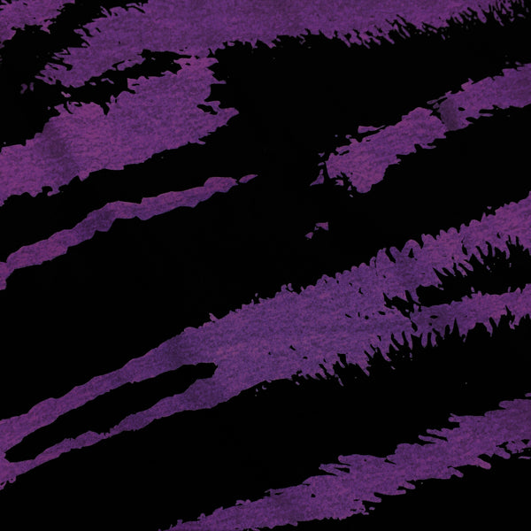 Purple and Black Tiger on Cotton Jersey