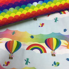 Rainbow Immersion on Organic Cotton/Spandex Jersey