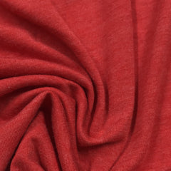 Red Heather Cotton/Poly Jersey