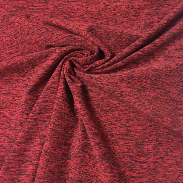 Red Space Dye on Poly/Spandex Jersey