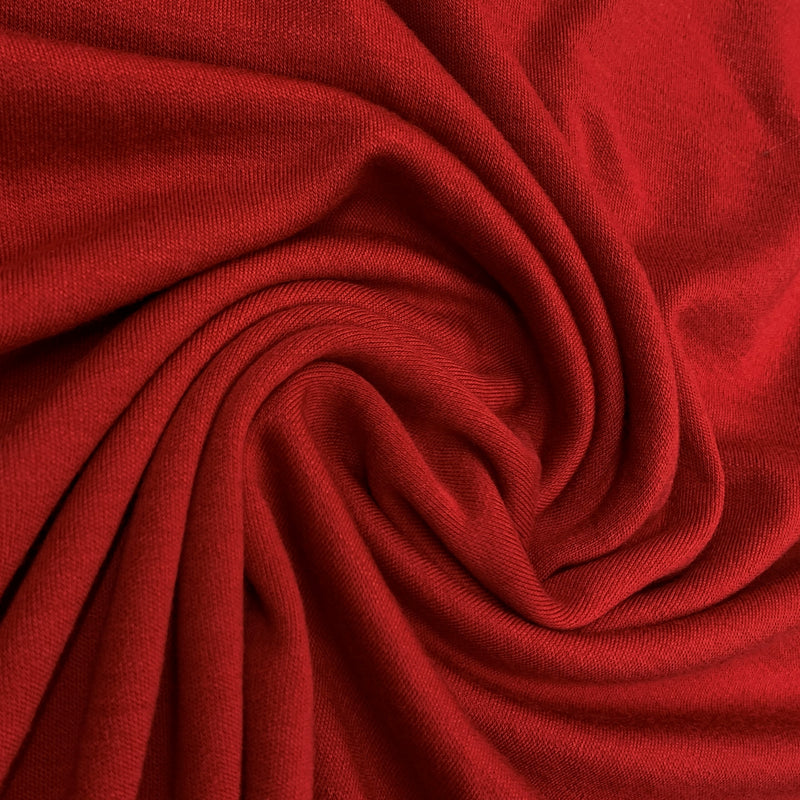 Red 100% Merino Wool Interlock - Washable