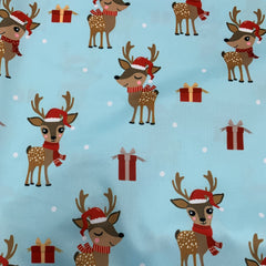Reindeer and Presents on 1 mil PUL-Made in China