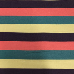Rocky and Foxy Brown Stripe on Bamboo Stretch French Terry
