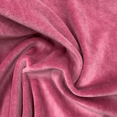 Rose Cotton Velour