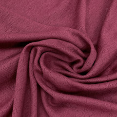 Rose Glace Merino Wool Pointelle